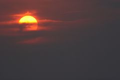 ciel et soleil Photographie stock