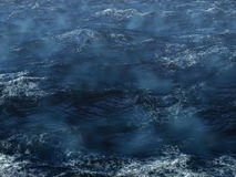 Ciel et vagues de l'océan Storm illustration stock