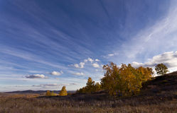 Ciel fantastique d'automne avec des nuages Photo libre de droits