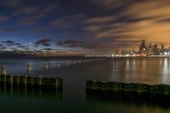 Ciel foncé Chicago Photo libre de droits