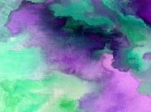 Ciel frais de fond d'abrégé sur art d'aquarelle le beau opacifie l'imagination brouillée texturisée par jour de lavage humide d'a Image libre de droits