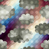 Ciel géométrique avec des chutes de neige Photos stock