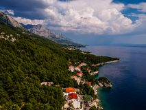 Ciel gentil en Croatie photos stock