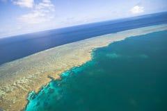 ciel grand de récif de barrière Photographie stock