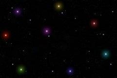 Ciel illuminé par les étoiles Image libre de droits