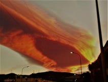 Ciel impressionnant de météore Images stock