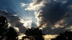 ciel impressionnant photo stock
