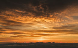 Ciel jaune de la Californie Image libre de droits