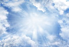 Ciel lumineux Images libres de droits