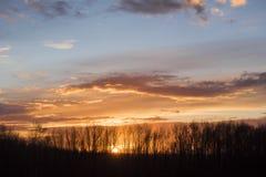 Ciel magnifique de soirée image stock