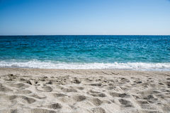 Ciel, mer et sable Photos libres de droits