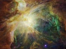 Ciel nocturne avec le fond de nébuleuse d'étoiles de nuages Éléments d'image meublés par la NASA illustration libre de droits