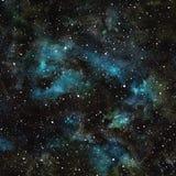 Ciel nocturne d'aquarelle avec des étoiles Photo libre de droits