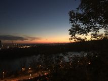 Ciel nocturne de Bratislava Image libre de droits