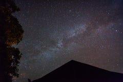 Ciel nocturne de galaxie de manière laiteuse image libre de droits