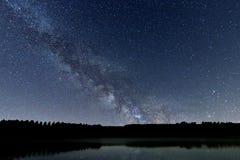 Ciel nocturne de galaxie de manière laiteuse beau photo stock