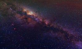 Ciel nocturne de manière laiteuse avec des étoiles Image libre de droits