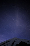 Ciel nocturne de montagne Photos stock