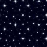 Ciel nocturne sans couture de texture avec un bon nombre d'étoiles 3 illustration de vecteur