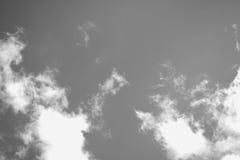 Ciel noir et blanc Photographie stock libre de droits