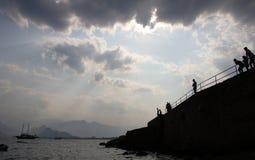 Ciel nuageux au-dessus d'Antalya ; Photographie stock