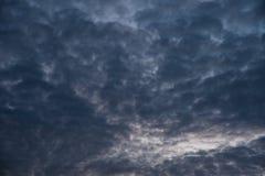 Ciel nuageux avant pluie Image stock