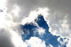 Ciel nuageux blanc Images libres de droits