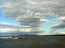 Ciel nuageux d'automne Photographie stock