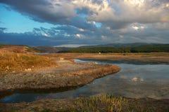 Ciel nuageux dans l'eau Photos libres de droits