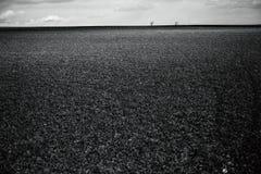 Ciel nuageux de champ vide sans fin Photographie stock