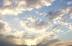 Ciel nuageux excessif d'été Photographie stock libre de droits