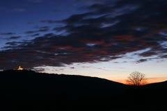 Ciel nuageux foncé Image libre de droits