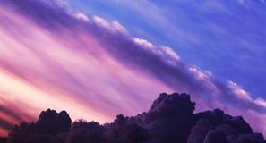 Ciel nuageux là ont tellement le nuage Photo stock