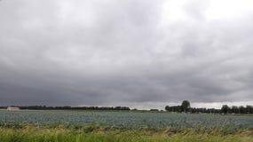 Ciel nuageux néerlandais Images stock