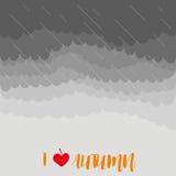 Ciel orageux d'automne avec la pluie, illustration de vecteur illustration libre de droits
