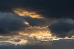 Ciel orageux excessif Image stock