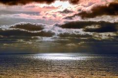 Ciel orageux, paysage de mer Images libres de droits