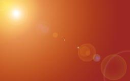 Ciel orange Photographie stock