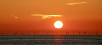 Ciel orange Beau Sun image stock