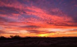 Ciel orange de coucher du soleil Photographie stock