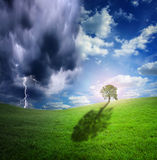 Ciel ou enfer de nature Photo stock