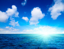 ciel parfait d'océan Images stock