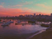 Ciel rosâtre Photos libres de droits