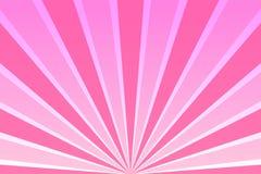 Ciel rose avec des rayons illustration de vecteur