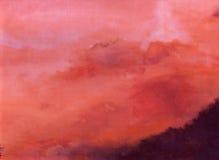 Ciel rouge. Photo libre de droits