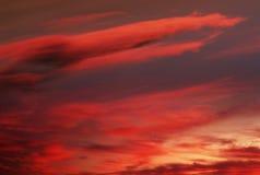Ciel rouge Image libre de droits