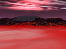 Ciel rouge image stock
