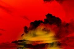 Ciel rouge Photos libres de droits