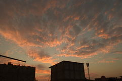 Ciel rouge Photo stock