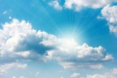 Ciel solaire Images libres de droits